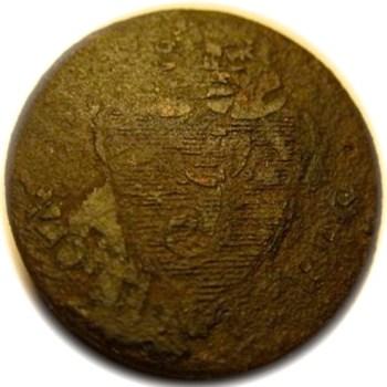 18th Century Loyalist Button rj silversteins george washington inaugural buttons BCL-17