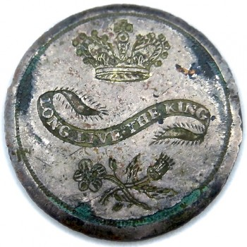 ENGLAND LONG LIVE THE KING 35MM SILVER WASH COPPER RJ Silversteins georgewashingtoninauguralbuttons.com LLTK-1