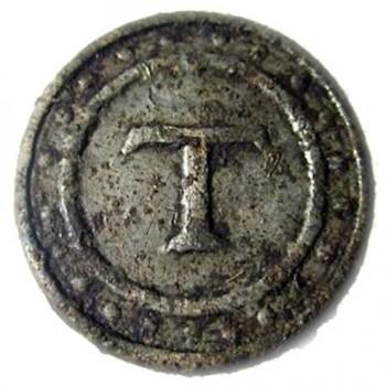 Grand Army Thomas 2nd Reg. Pewter 22mm. Dale H excav. gen. knox trail rj silversteins georgewashingtoninauguralbuttons.com 0