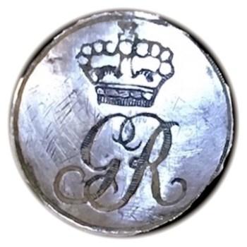 Post Rev War GR Silver Cuff 16.71mm Tinned or Silver'd Orig. Shank O