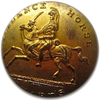 Rhode Island Providence Horse Guard 1842-48 22mm Gilded Brass georgewashingtoninauguralbuttons.com O