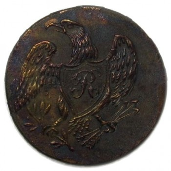 egiment of Riffleman Stono River Dug RF 3-A Eagle with Script R 21mm rj silverstein's georgewashingtoninauguralbuttons.com O