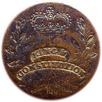 long live the king RJ Silversteins george washington inaugural buttons J.B LLTK-10