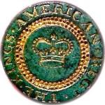 merican 1778 Kings 4th Regt. RJ SILVERSTEINS GEORGEWASHINGTONINAUGURALBUTTONS.COM BCL-11