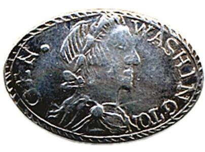 George Washington Unlisted Portrait Shank Button BRITISH MANUF. H.A. 11-12-04 $5,750. MINT- ORIG. SHANK