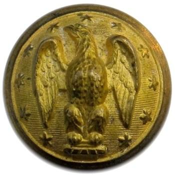 1860-65 CONFEDERATE ARMY OFFICER 24MM GILT BRASS ALBERT'S CS 5A.3- TICES CS205A.5 ORIG SHANK PD$141. 06-17-13 o