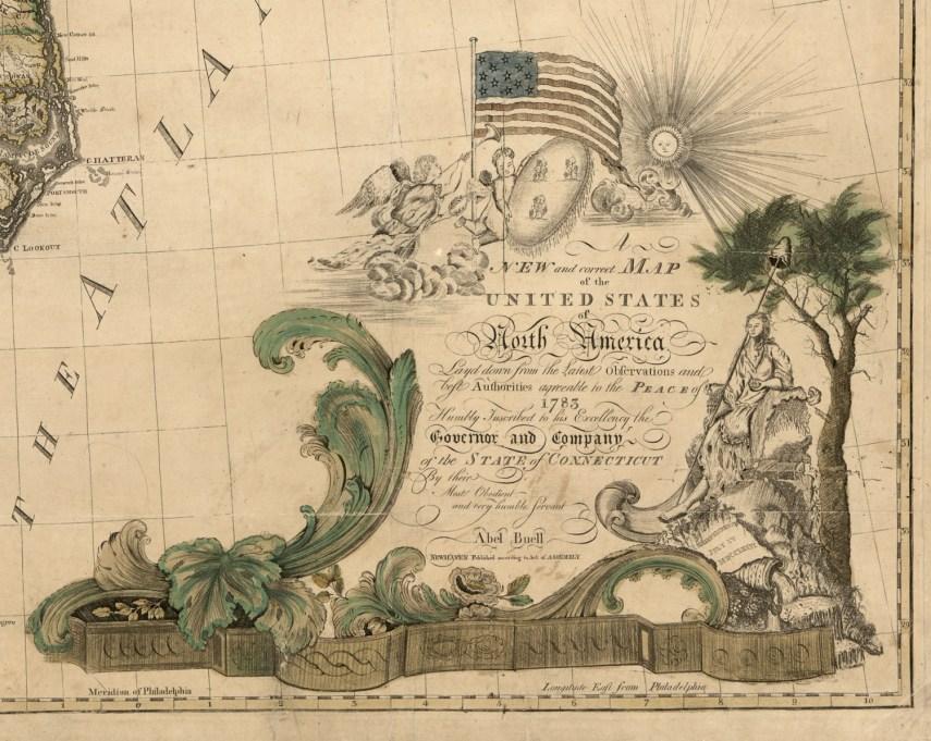 1783 Abel Buell's Cartouche RJ Silverstein's georgewashingtoninauguralbuttons.com O
