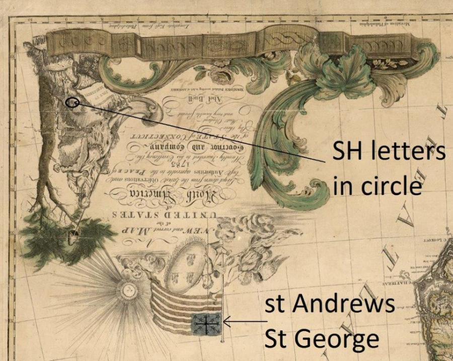 1783 Abel Buell's Cartouche RJ Silverstein's georgewashingtoninauguralbuttons.com O1