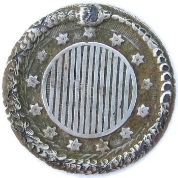 1777 Rattlesnake 23.84mm Silver Copper Dug Bri. General Augustas Washington Home South Carolina RJ Silverstein's georgewashingtoninauguralbuttons.com Best 2