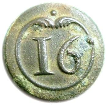1775 16th Regt. French 16mm cuff o