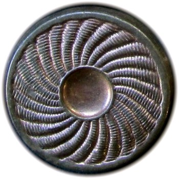 1775 General Button 28mm Copper Swirl Plain Thin Flat Border O