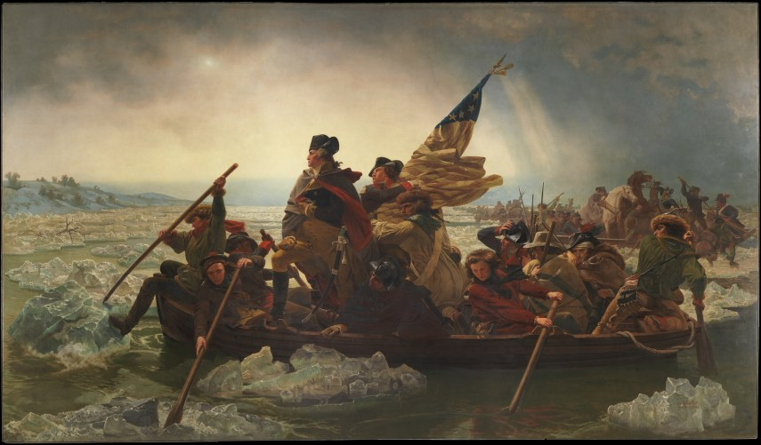 WASHINGTON CROSSING THE DELEWARE RJ SILVERSTEINS GEORGEWASHINGTONINAUGURALBUTTONS.COM O
