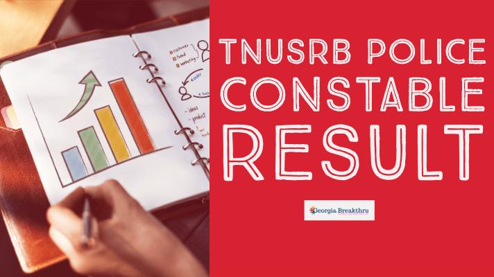 TNUSRB Police Constable Result 2019