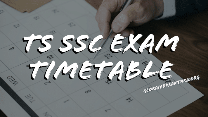 TS SSC Exam Time table 2020 - Telangana 10th Class