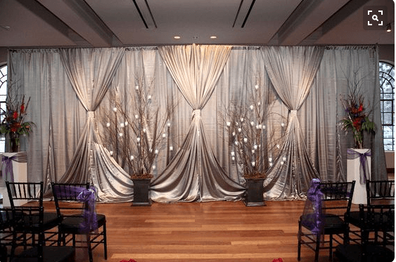4 Amazing Tips to Enhance Your Wedding with Pipe and Drape ... on Draping Curtains Ideas  id=36464