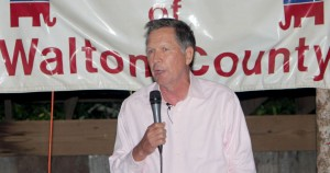 John Kasich at last year's Walton GOP BBQ.