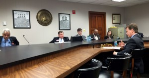 Rep. Rich Golick explains HB 849 to the Judiciary Subcommittee.  Photo: Jon Richards