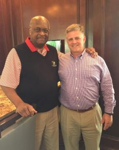 Herman Cain with Drew Ferguson.  Photo: Ferguson campaign.