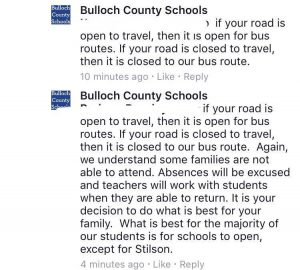 Bulloch schools bus
