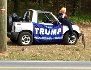 Spotted outside a polling place in Gwinnett County this morning.