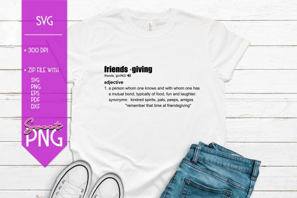 Friendsgiving Definition Mockup