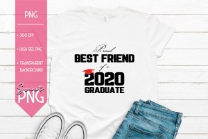 Proud Best Friend of a 2020 Graduate Mockup