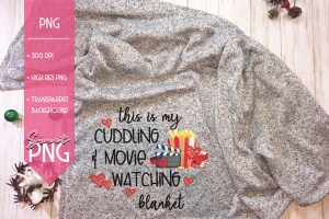 This Is My Cuddling and Movie Watching Blanket Mockup
