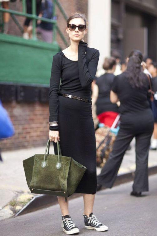 converse black dress