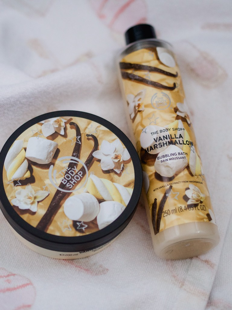 vanilla marshmallow collection the body shop
