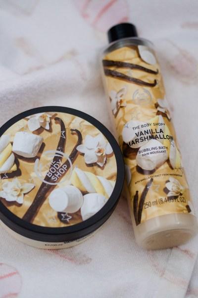 vanilla marshmallow collection the body shop