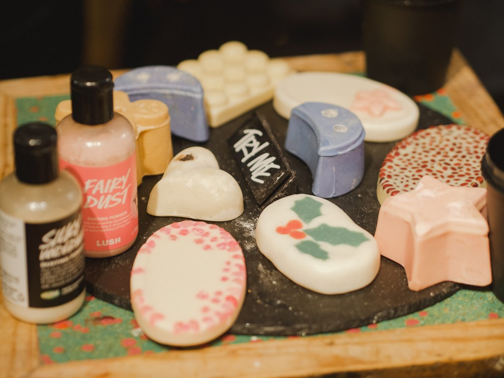 lush cosmetics massage bars