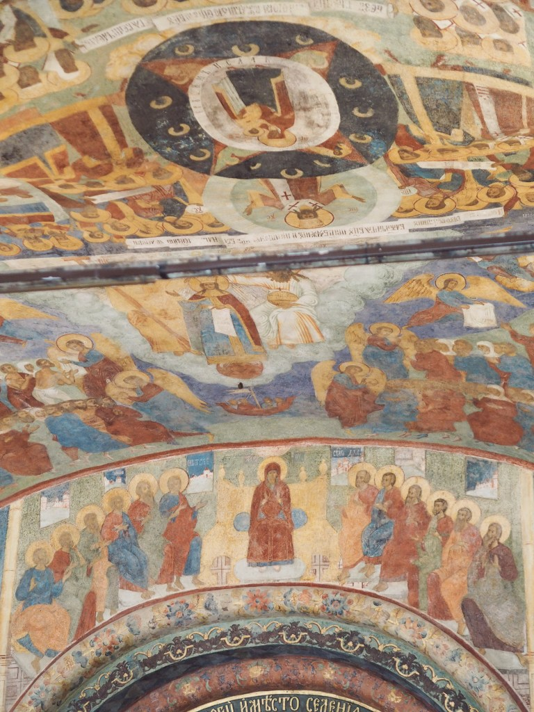 Church of St. Ilya the Prophet in Yaroslavl, Russia frescoes
