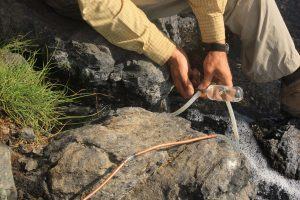 Volcanic Gas Sampling