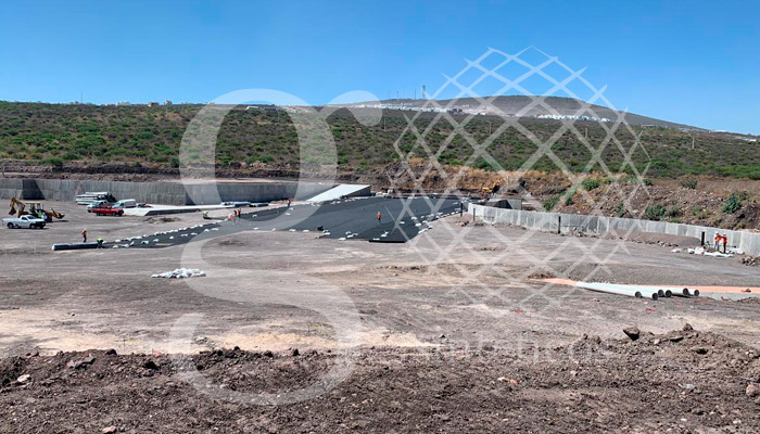 Geosintéticos México, Colocación de geotextil no tejido en el Marqués, Querétaro.