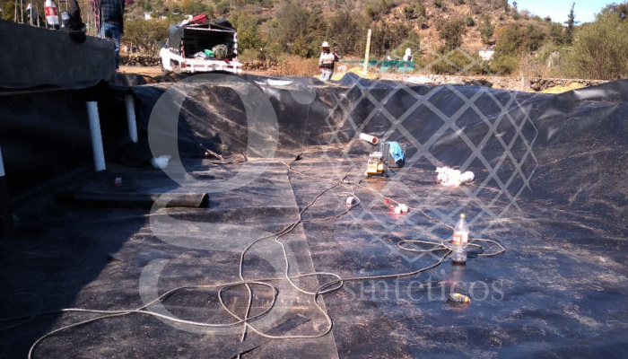Ollas de captación de líquidos para una planta tratadora en Michoacán.