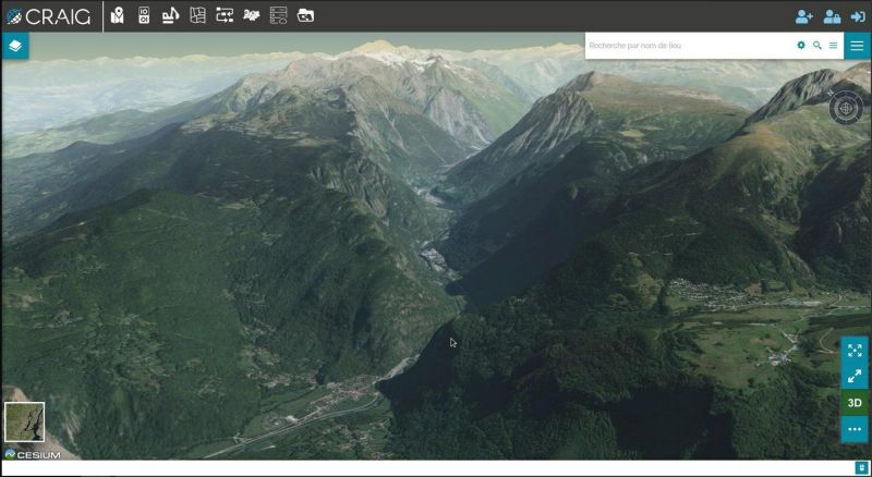 MapStore with Cesium in 3D mode