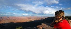 colorado panorama sul fiume canyonlands sole tramonto