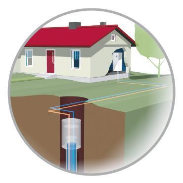 esempio di installazione geotermica con sonde in perforazioni verticali