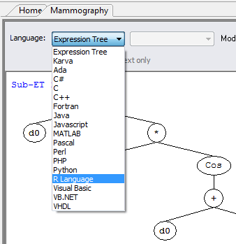 R Language in GeneXproTools
