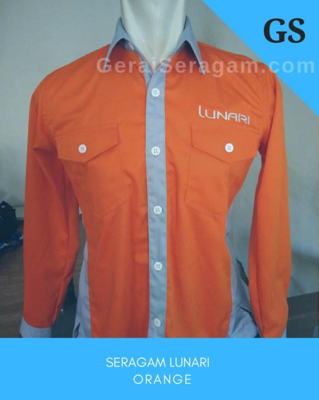 seragam kantor lunari orange