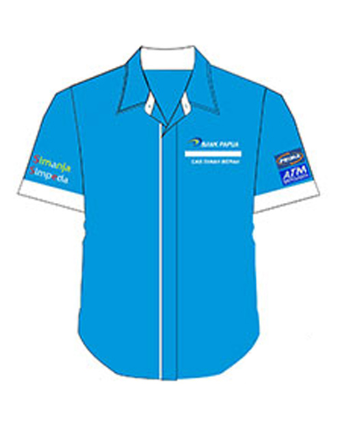 seragam kerja biru