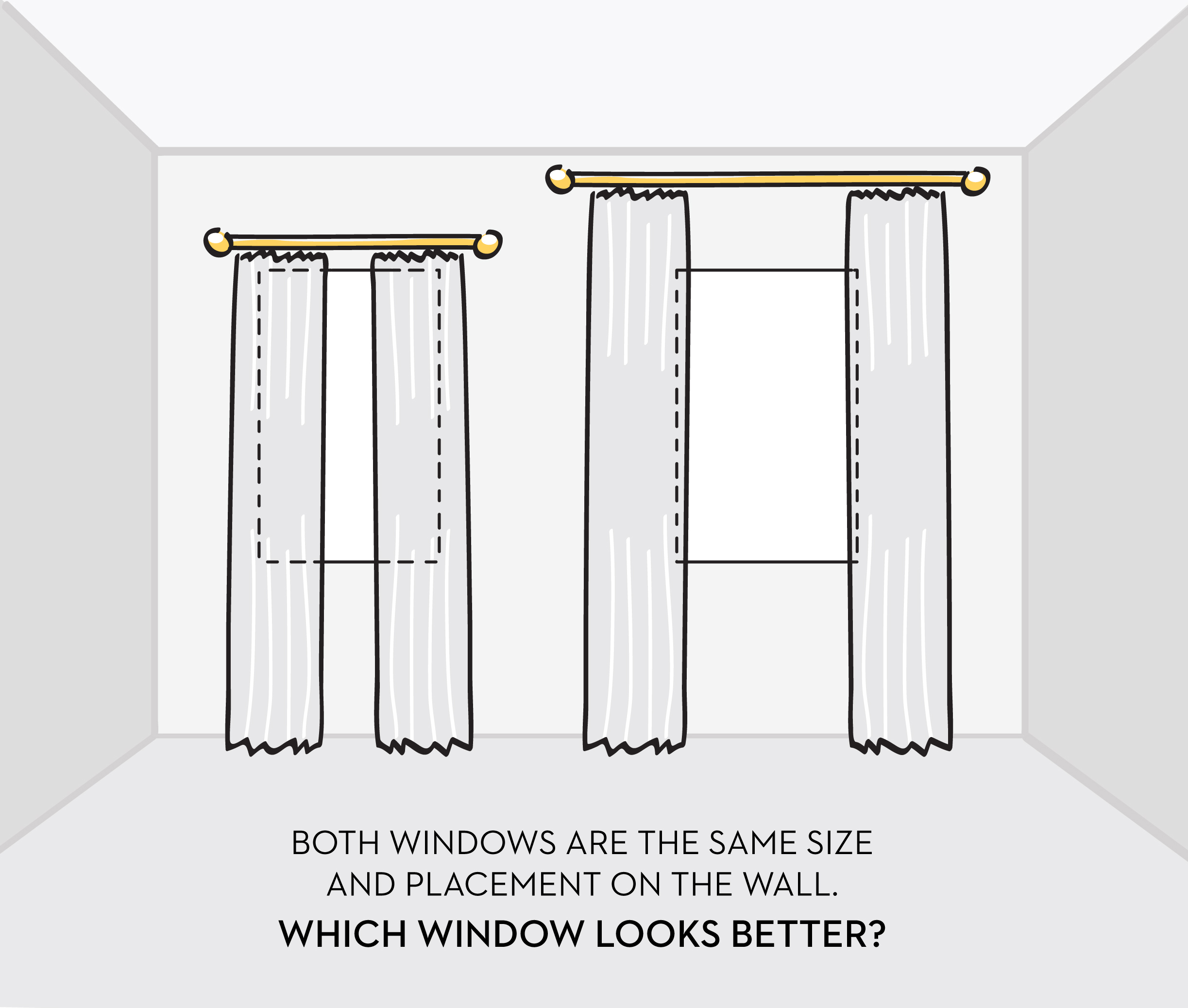how to hang curtains properly