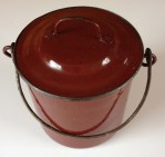 Lovely old lunch pail or marmite -- SOLD --