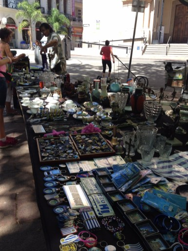 Lisa found a brocante in the square by the church!
