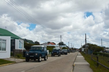 Land Rover does a brisk business on this island