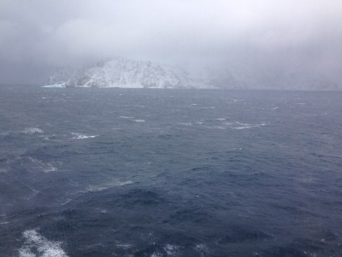 Our first view of the Antarctic Peninsula!
