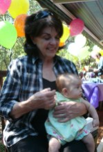 Gramma Gerry with so little Nia