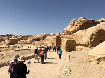 At the entrance to Petra