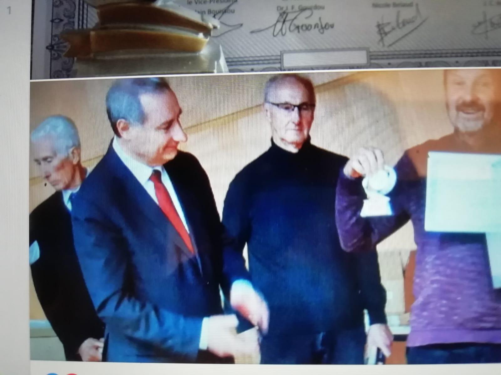 Remise des prix de l'académie des livres de Toulouse