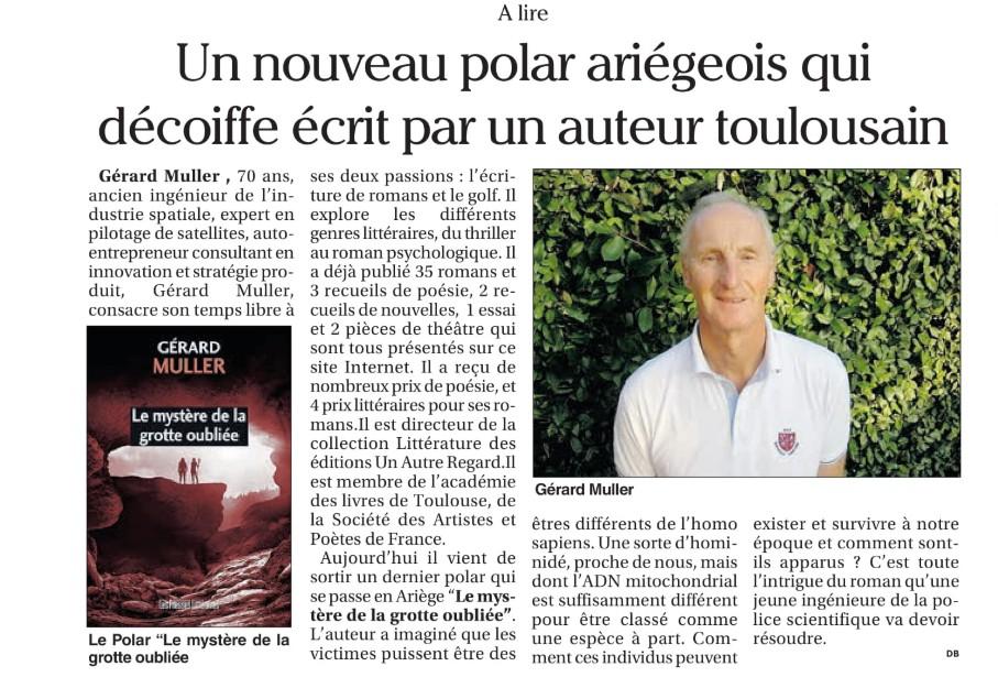 Un petit article dans le petit journal de l'Ariège